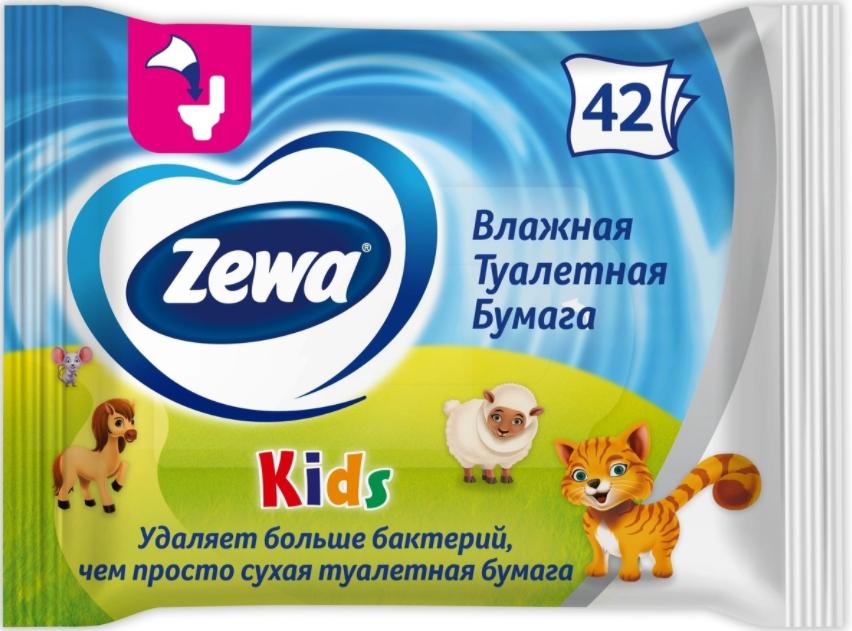 Влажная туалетная бумага Zewa Детская