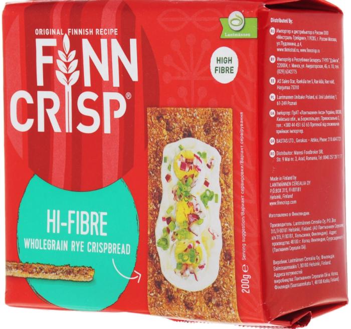 Finn Crisp Hi-Fibre с отрубями