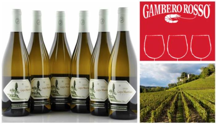 Capo Martino от Jermann в бутылках, логотип и фото виноградников