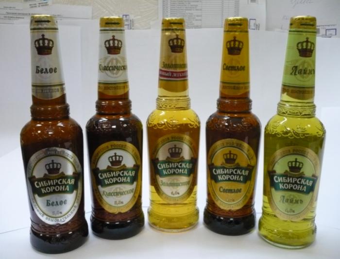"""Пиво """"Сибирская корона"""" в бутылках"""