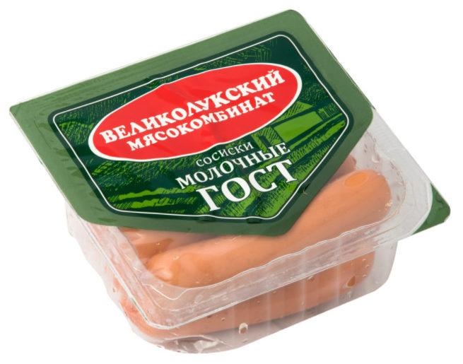 Сосиски Великолукского мясокомбината