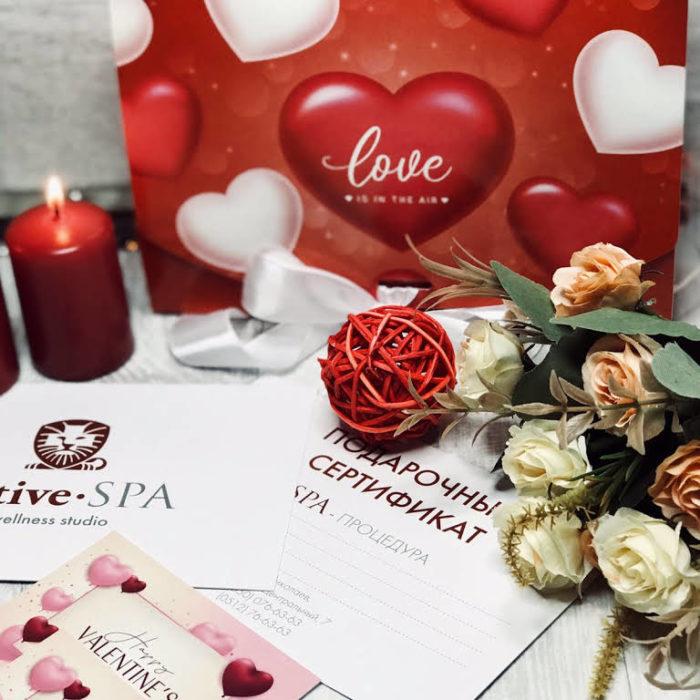 Подарочный сертифихат СПА и свечи
