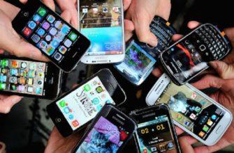 Много смартфонов в руках
