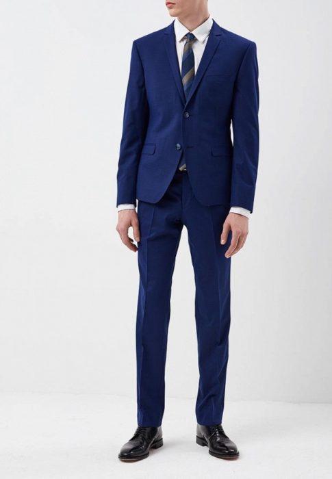 Синий костюм Daniel Diaz