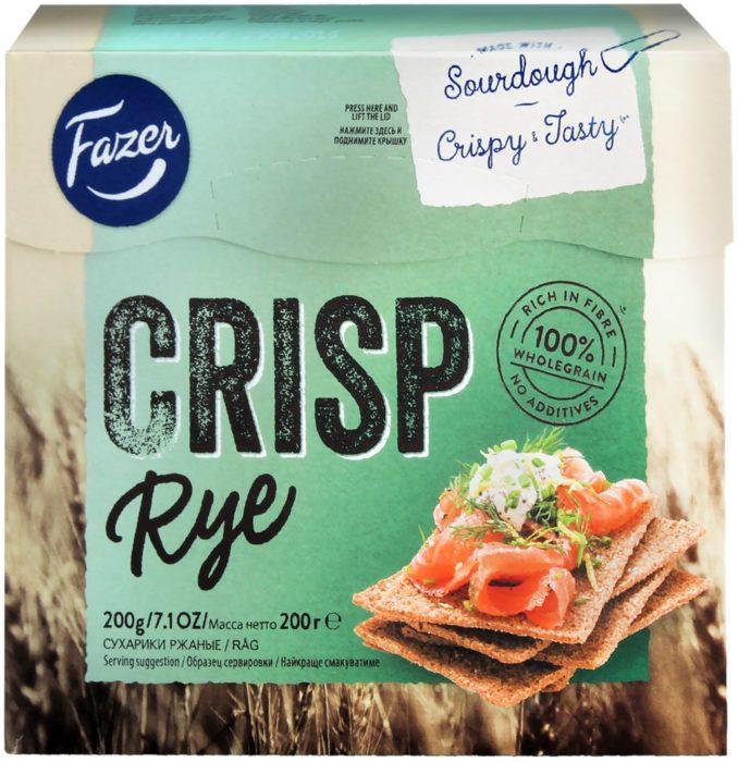 Fazer/Crisp Rye ржаные хлебцы