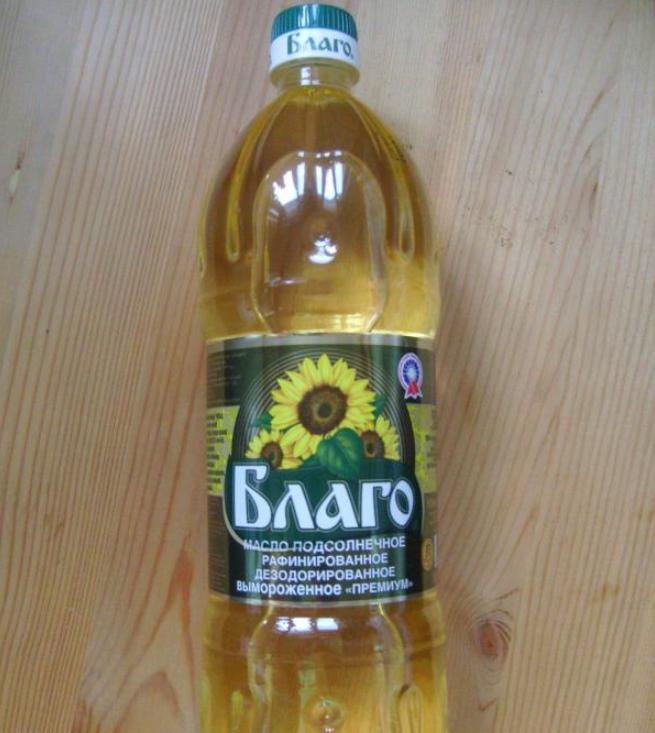 Масло «Благо» в бутылке