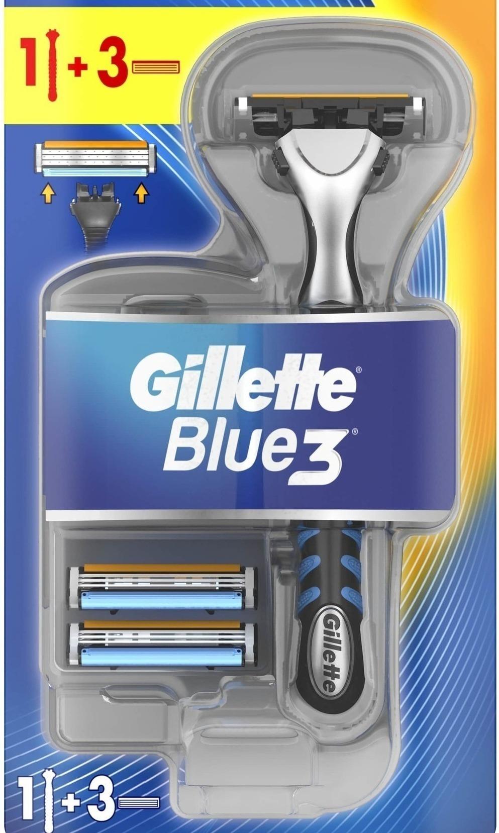 Станок Gillette Blue3 в упаковке