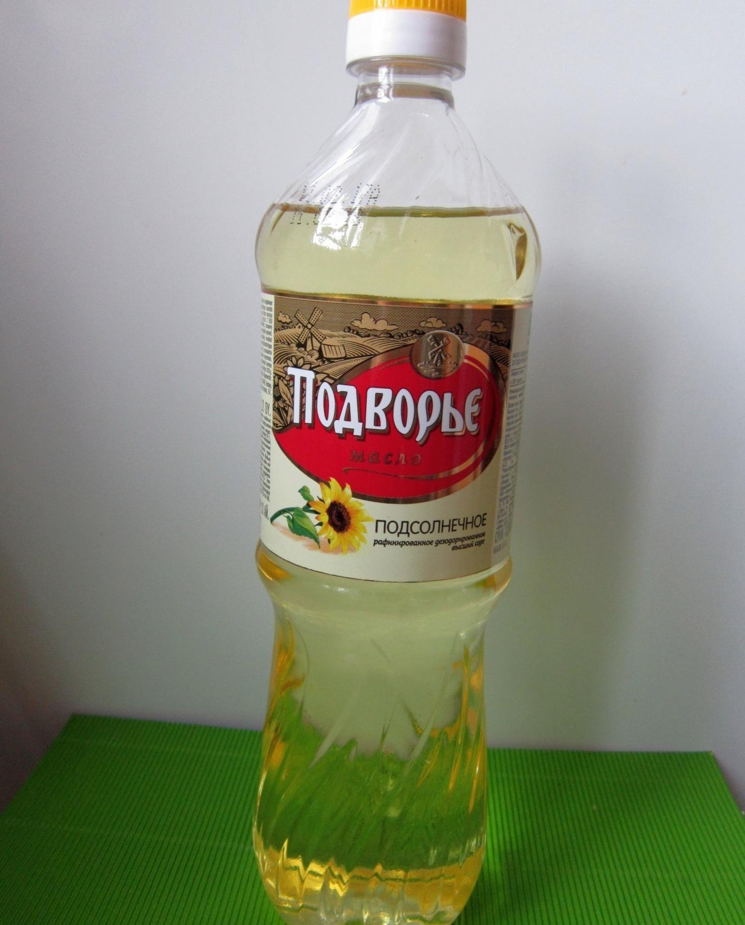 Масло «Подворье» в бутылке
