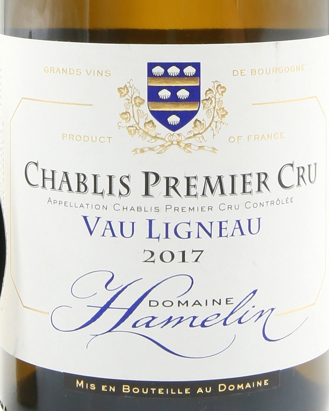 "Domaine Hamelin Chablis Premier Cru ""Vau Ligneau"" AOC в бутылке"